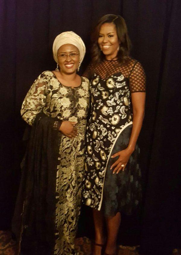 Ahisa Buhari meets Michelle Obama