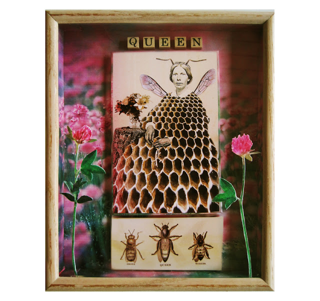 http://www.applearts.com/content/queen-bee-3d-mixed-media-shadow-box-art