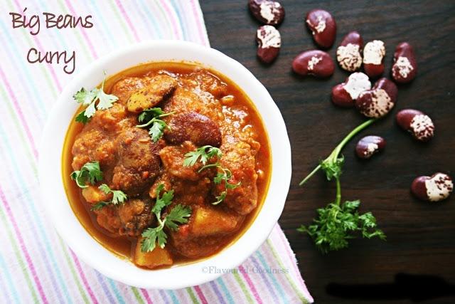 How to make Big Beans Potato Curry Recipe