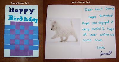 Jenna's Card 2008