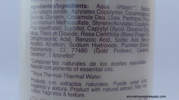 ingredientes desmaquillante foam gold 24 alissi bronte