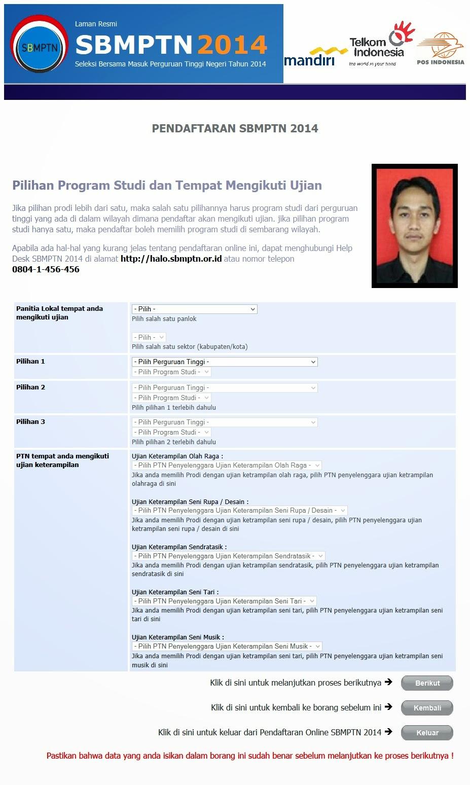 Contoh Tampilan Formulir Online Borang Pendaftaran