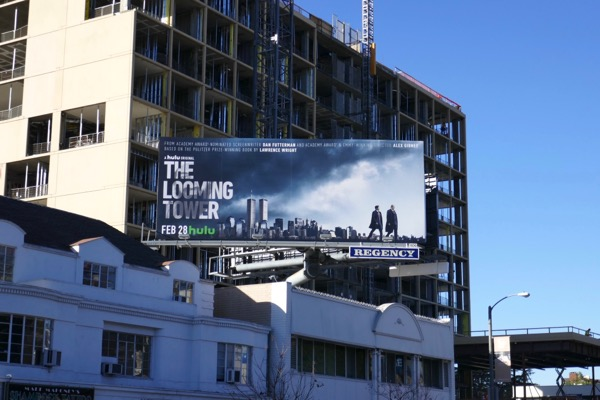 Looming Tower series launch billboard