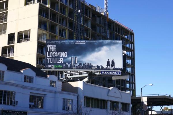 Looming Tower series launch billboard