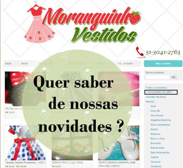 Site Moranguinho Vestidos