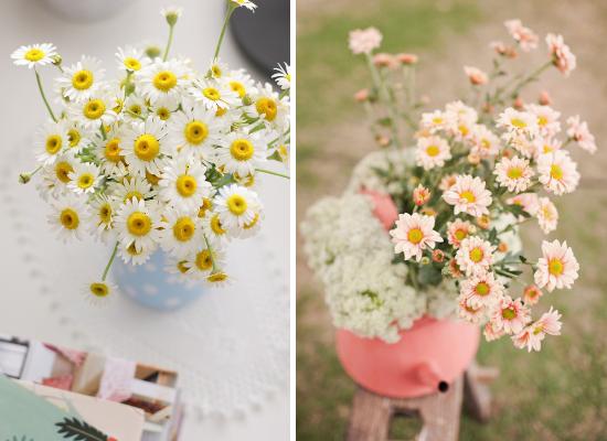 daisies wedding centerpieces, fiori matrimonio, wedding flowers