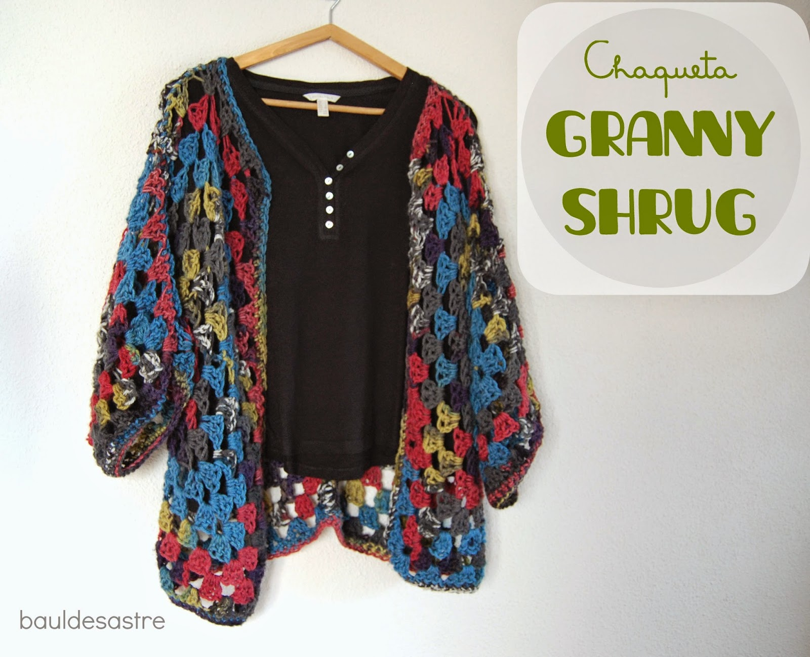 Chaqueta Granny Shrug ganchillo