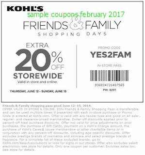 Kohls coupons february