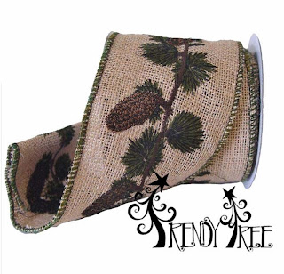 http://www.trendytree.com/ribbon/4-burlap-embroidered-pinecone-wire-edge-ribbon.html