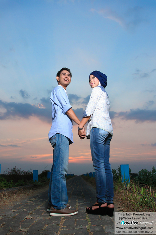 prewedding sunset