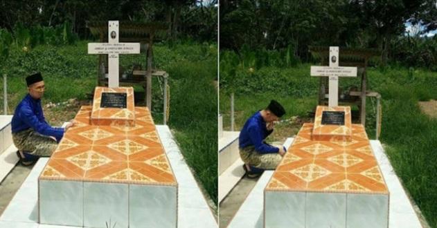 Pemuda Ini Ziarah Kubur Ayahnya Pada Hari Raya Buat Netizen Terkejut Malah Ada Yang Mengecam Tindakannya