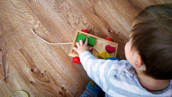 prezent na roczek dla roczniaka - sortery drewniane