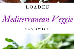 Loaded Mediterranean Veggie Sandwich