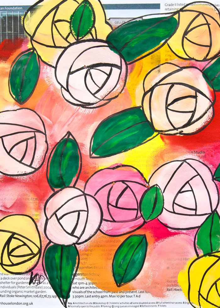 Kim Dellow Easy flower painting video