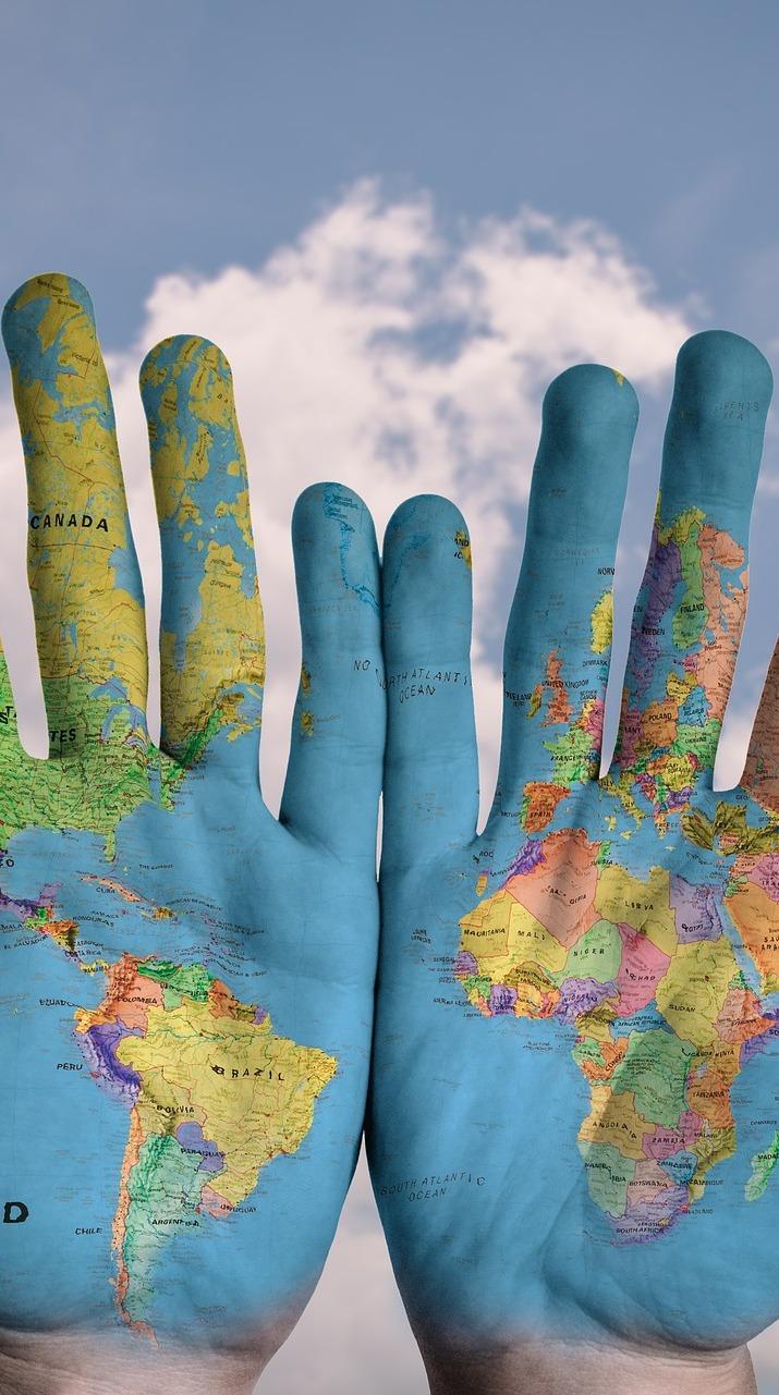 Hand map.