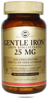 كبسولات الحديد (25 مل جرام) Solgar, Gentle Iron, 25 mg, 180 Veggie Caps