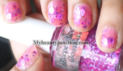 Swatch and review of indie nail polish The Blob from Carpe Noctem Cosmetics