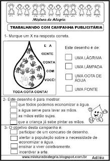 Campanha publicitária sobre água