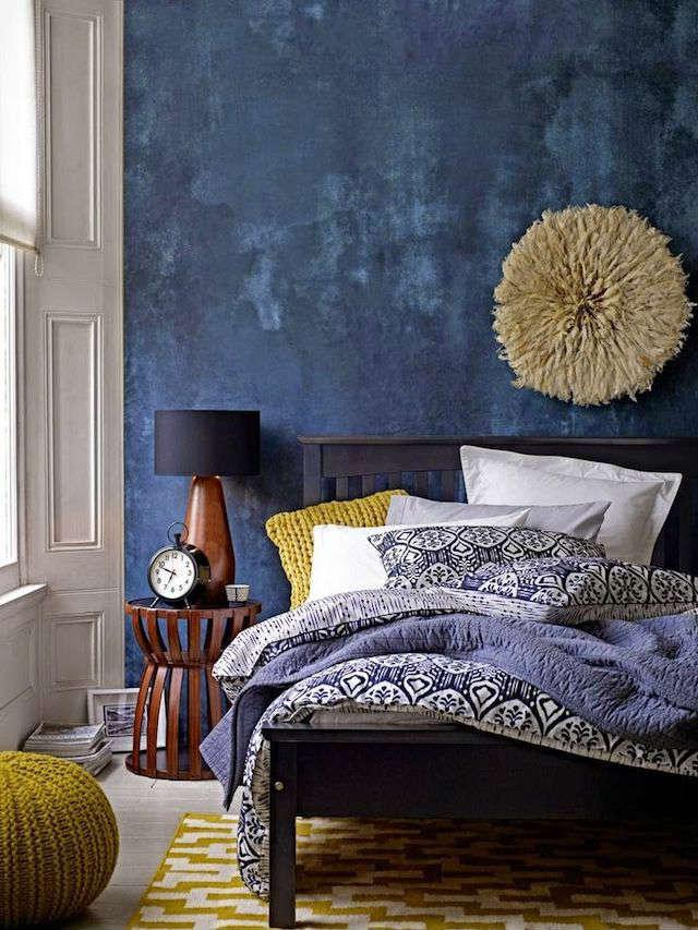 Tendencias decoración 2018 pared azul intenso