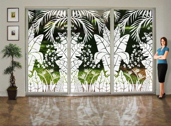 Decorative Window Film For Sliding Glass Doors Home And