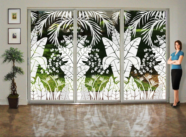 Decorative WINDOW FILM for Sliding Glass Doors