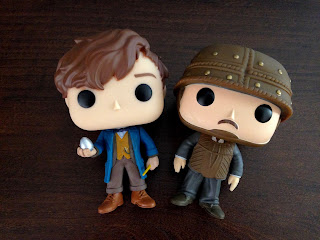 Newt Scamander and Jacob Kowalski Funko Pops