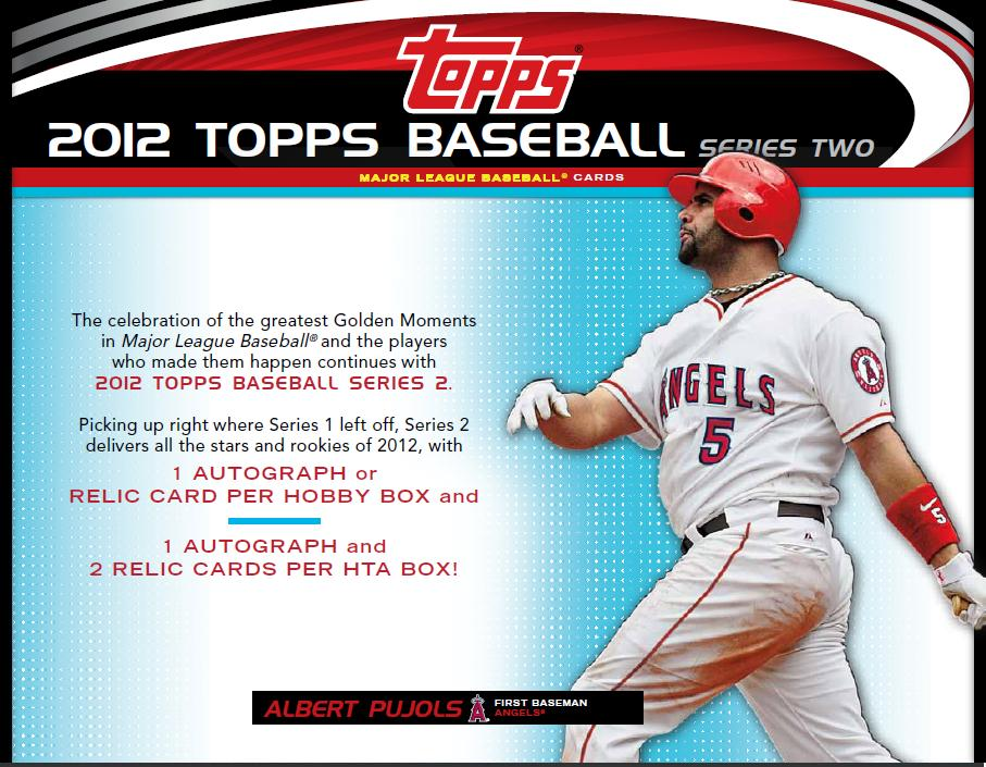 Bdj610s Topps Baseball Card Blog 2012 Topps Series 2 Sell Sheets