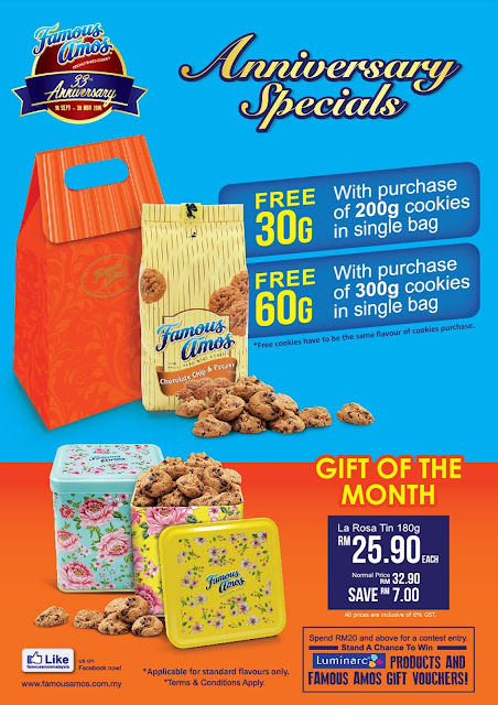 Famous Amos Malaysia Free Cookies Promo