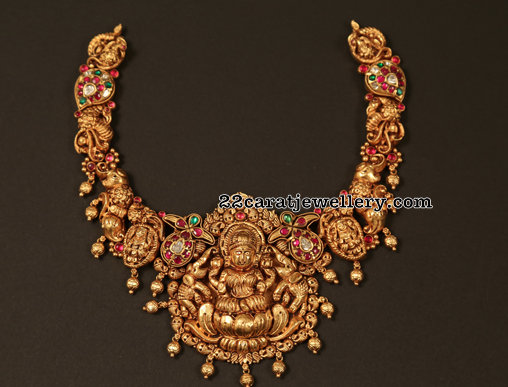 Peacock Lakshmi Choker from Vajra Jewellery