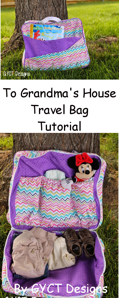 To Grandma's House We Go Travel Bag Pattern & Tutorial