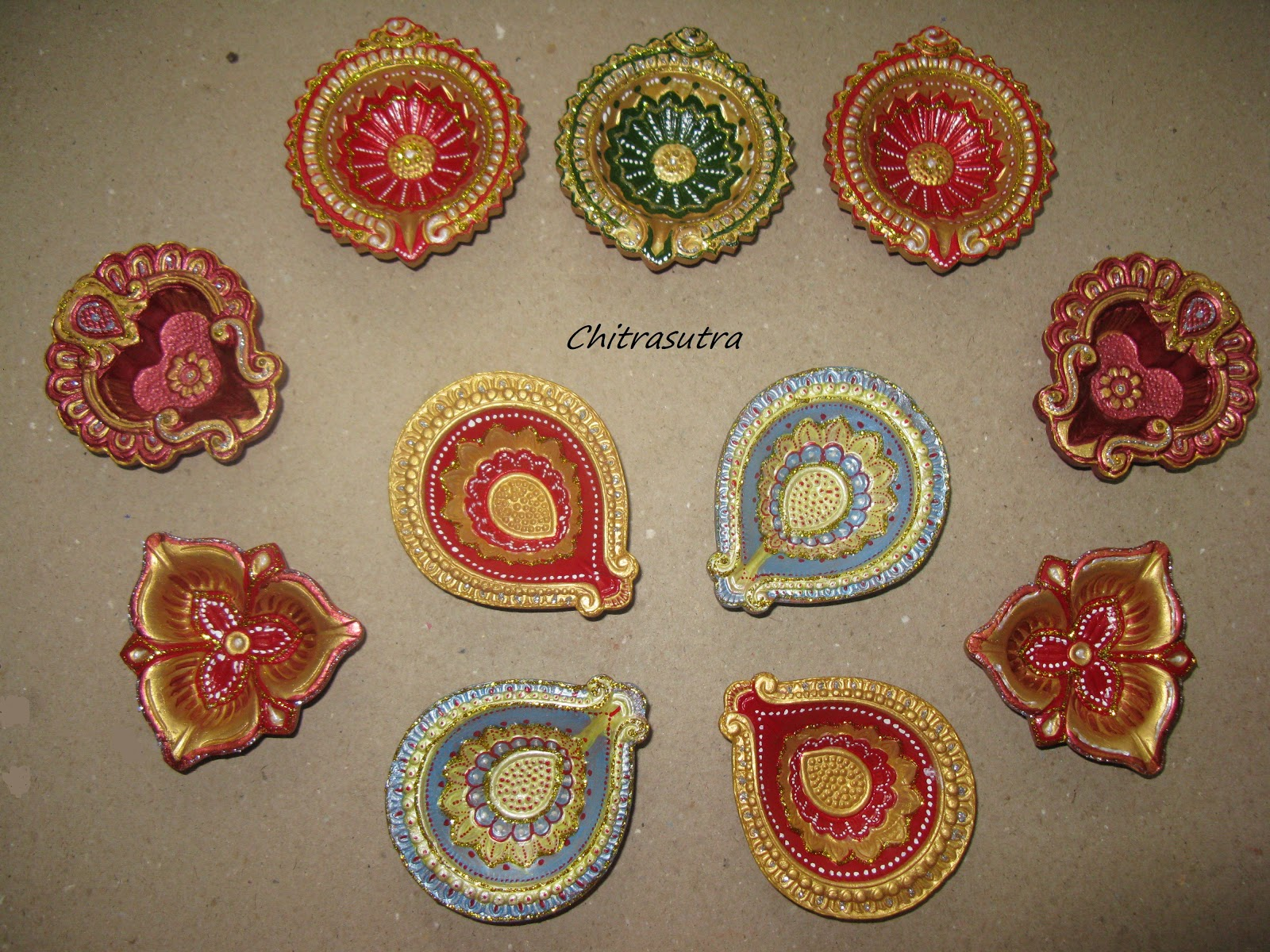 Painting Diyas For This Diwali