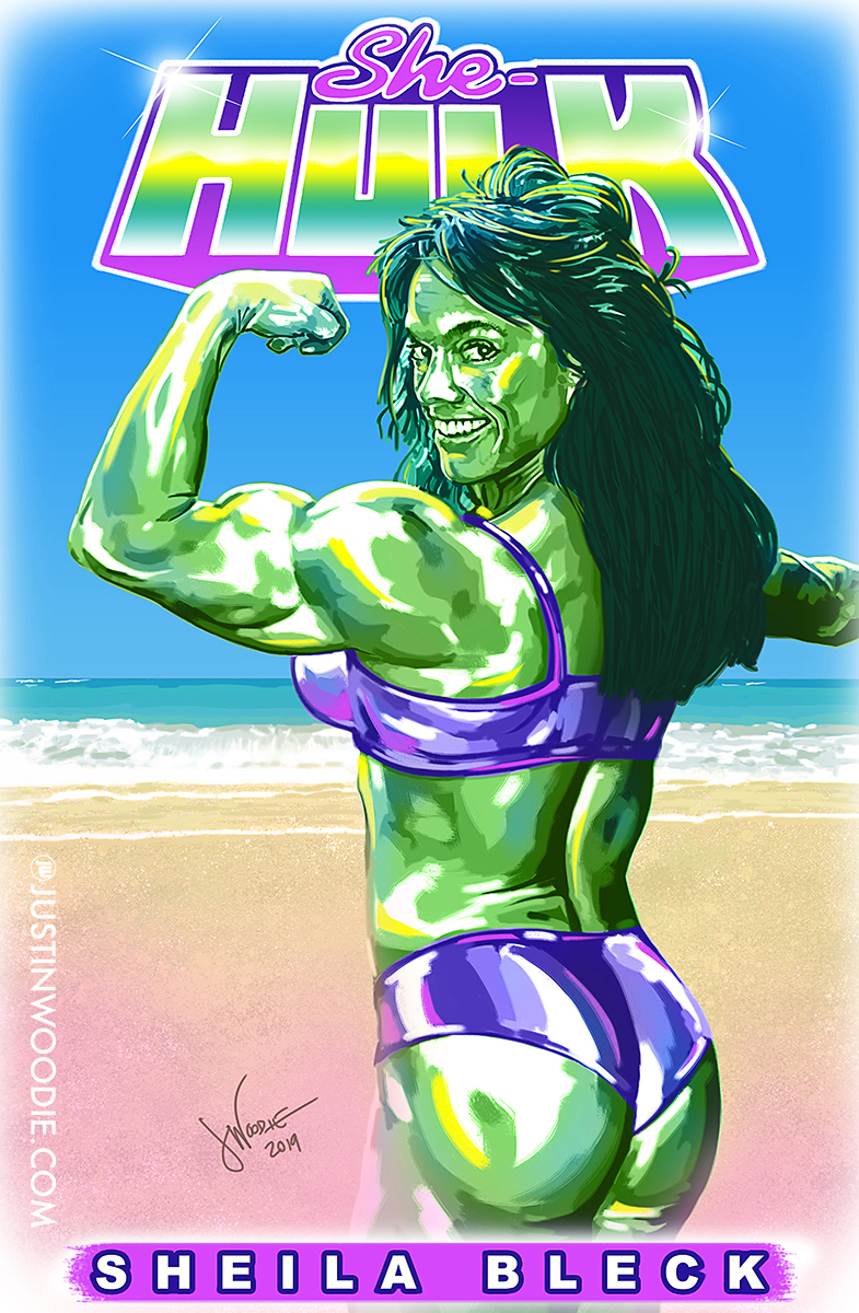 Sheila Bleck As She-Hulk Digital Illustration