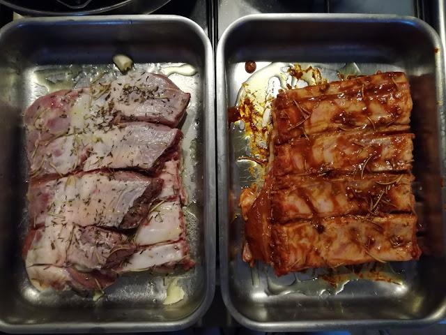 Costine di maiale al forno laccate con salsa agrodolce