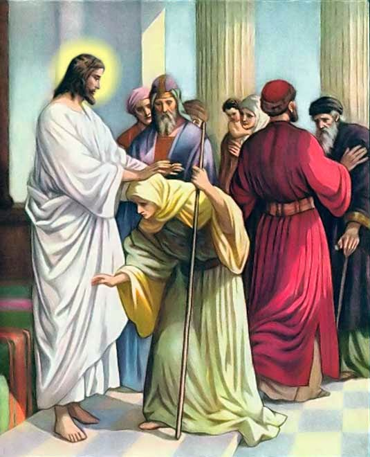 Femeia garbova si darul Lui Dumnezeu
