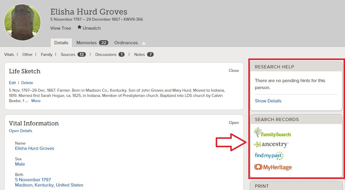 Revealing Roots and Branches: FamilySearch Partner Search