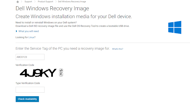 Windows 7 ISO With Dell Windows Recovery Image