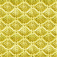Quilted Lattice in the round, this pattern is so simple and the end result is beautiful.