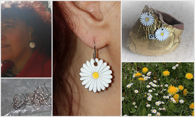 Ohrringe Blüten DIY, ü50 Mode Blog, Mode ue 50