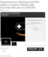 PlayerUnknown's Battlegrounds para PS4 el día 8 de diciembre
