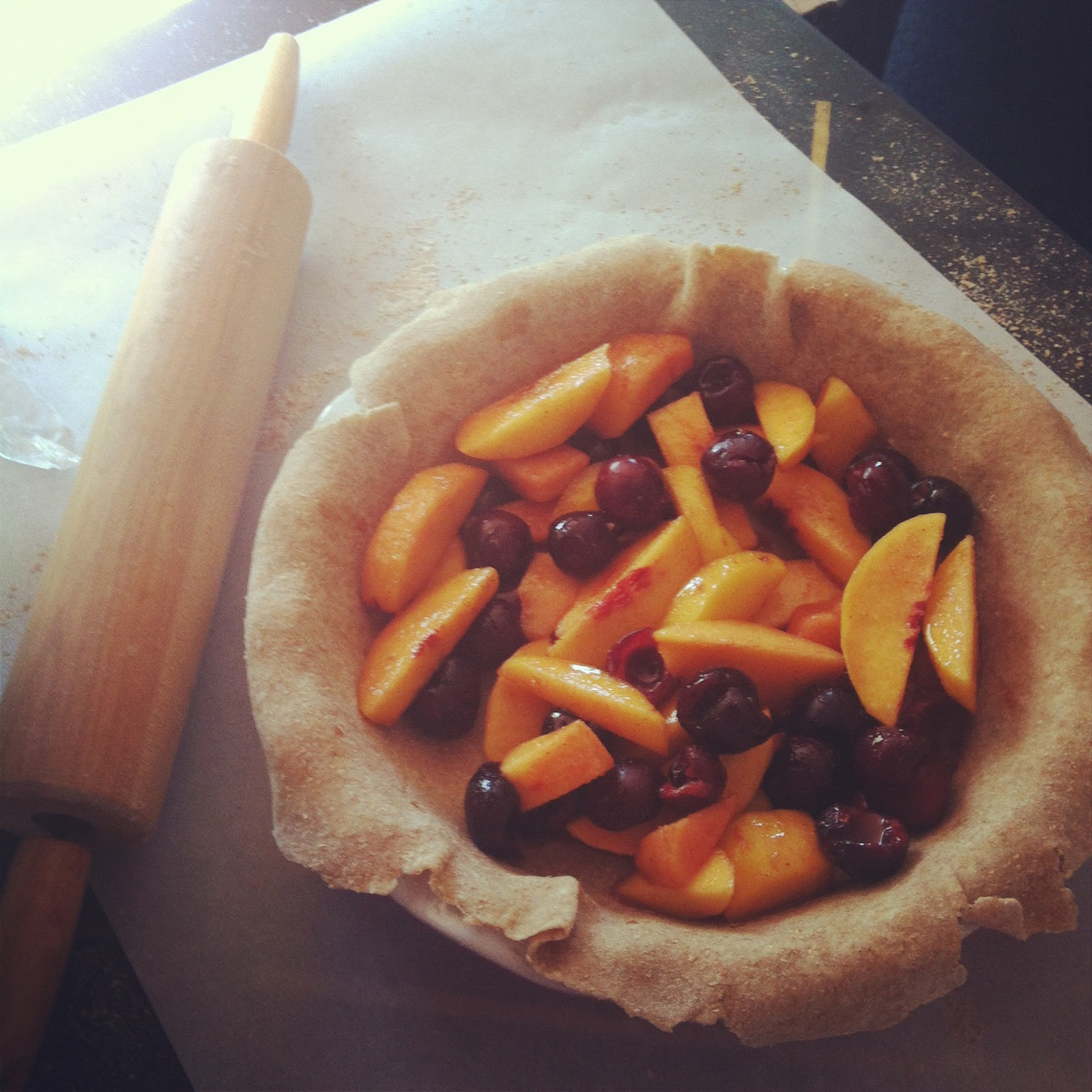Weekend Baking: Cherry Peach Pie - Lovely Little Things
