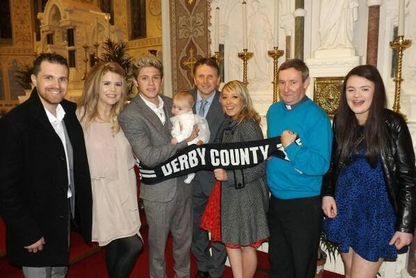 One Direction: Niall and his family at Theo's christening ...