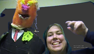 Erica Crooks Transgender puppeteer , cartoonist , filmmaker