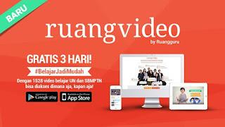 Belajar Jadi Mudah dengan RuangVideo dari Ruangguru.com