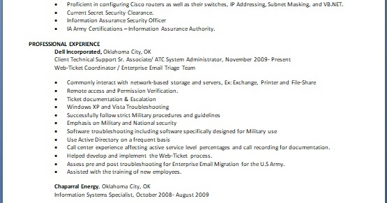 Atc System Administrator Sample Resume Format In Word Free