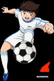 Render Tsubasa Aozora Dribling Super Campeones