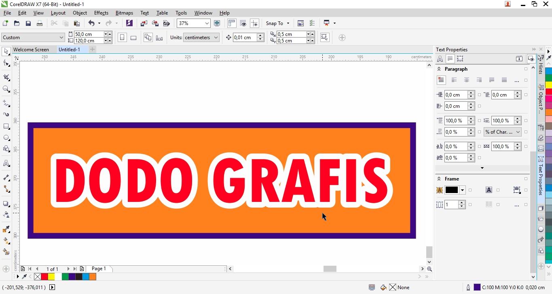 Membuat tulisan efek Luntur CorelDRAW - Situsnya Belajar Desain