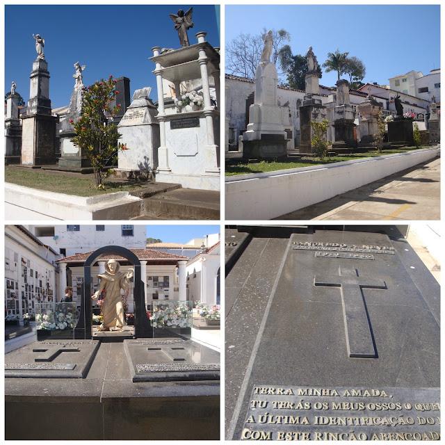 Túmulo de Tancredo Neves, no cemitério da Igreja São Francisco de Assis, em São João del Rei - MG