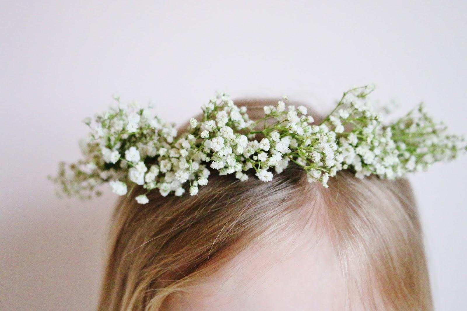 My Simple Modest Chic: DIY Baby's Breath Flower Crown Tutorial