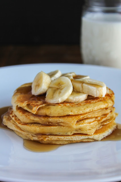 Peanut Butter Protein Pancakes | The Chef Next Door