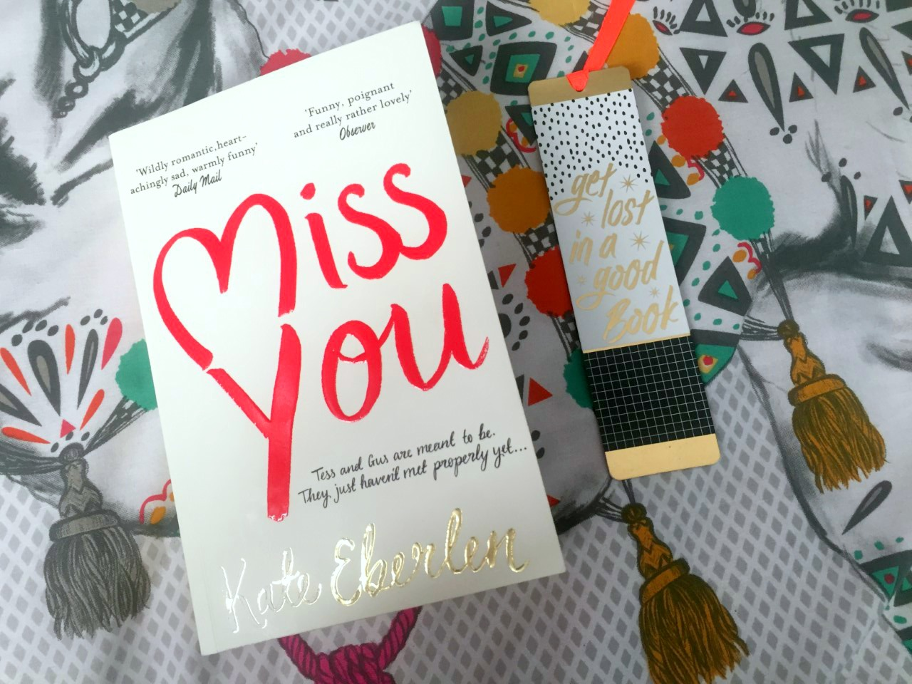 Formidable Joy | UK Fashion, Beauty & Lifestyle Blog | Book Review | Miss You | Miss You by Kate Eberlen | Kate Eberlen